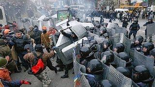 Украина Майдан Столкновения - Бой в огне и дыму  Евромайдан 20.02.2014