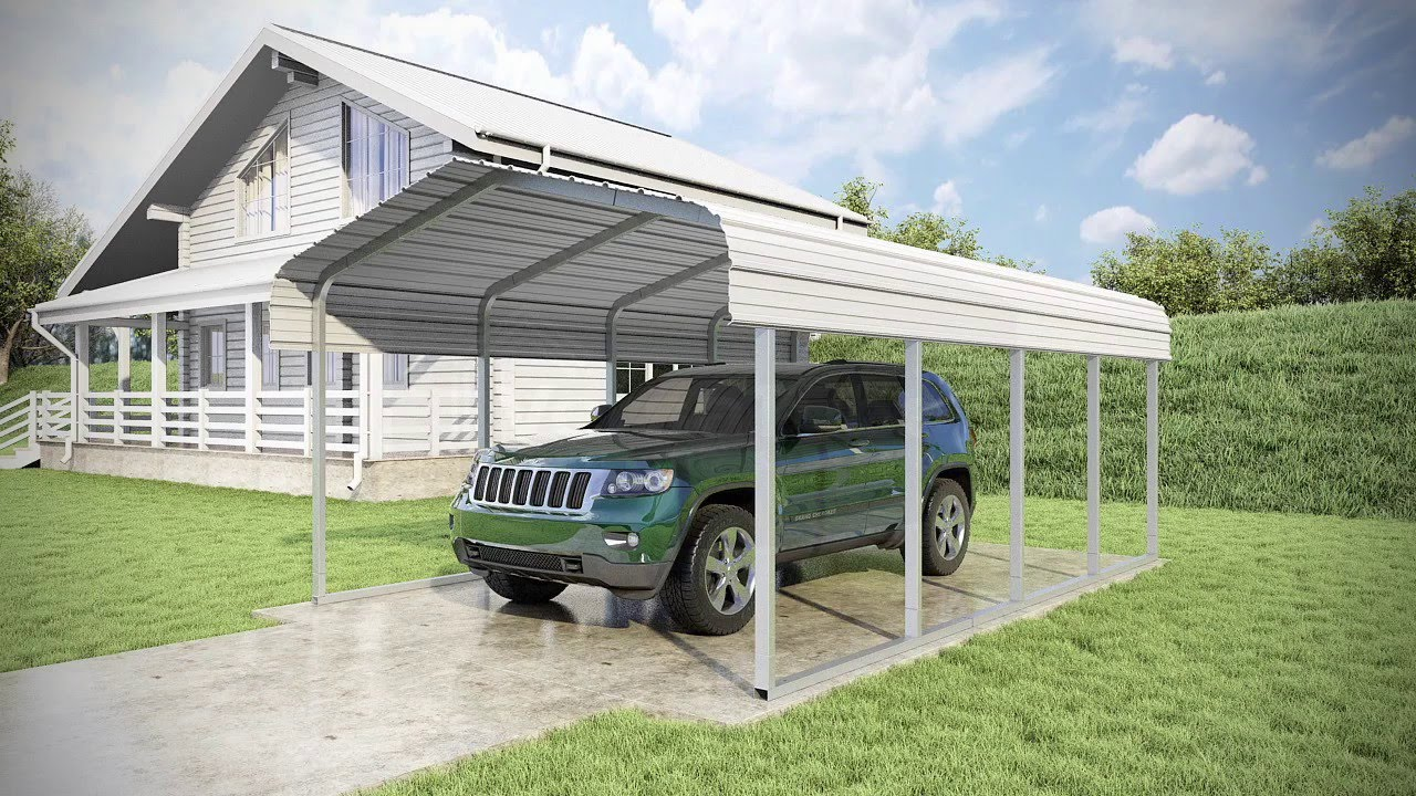 12x20 Canopy Carport & King Canopy 12 X 20 Ft. Fitted ...