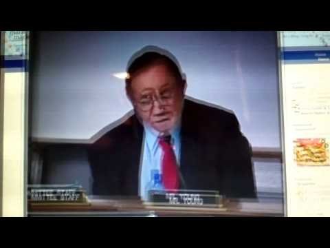 Cong. Young (R) Alaska wants to believe that aquariums are educational.mp4
