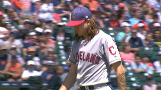 CLE@DET: Clevinger goes six strong innings vs. Tigers