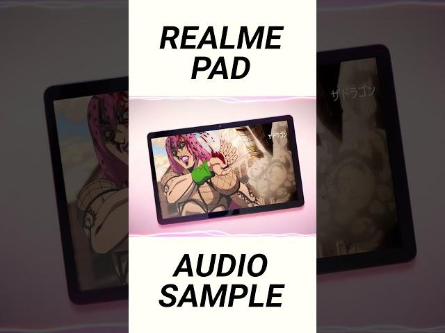 Realme Pad Audio Sample! | Review Drops @ 7 PM. #shorts