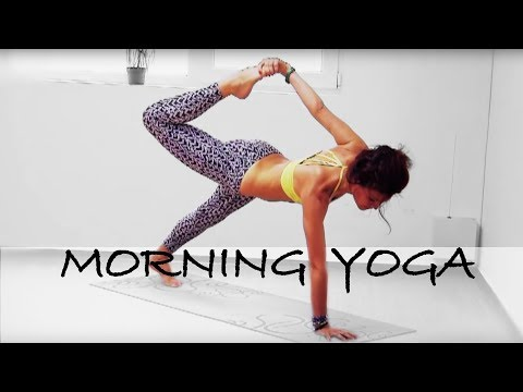 AK50 Impact Intense Morning Power Vinyasa Yoga Class Calorie Burn Off Intermediate