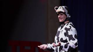 My Udderly Serious Life, Uncovering Courage in a Cow Suit   Billie Johnson   TEDxIdahoFalls