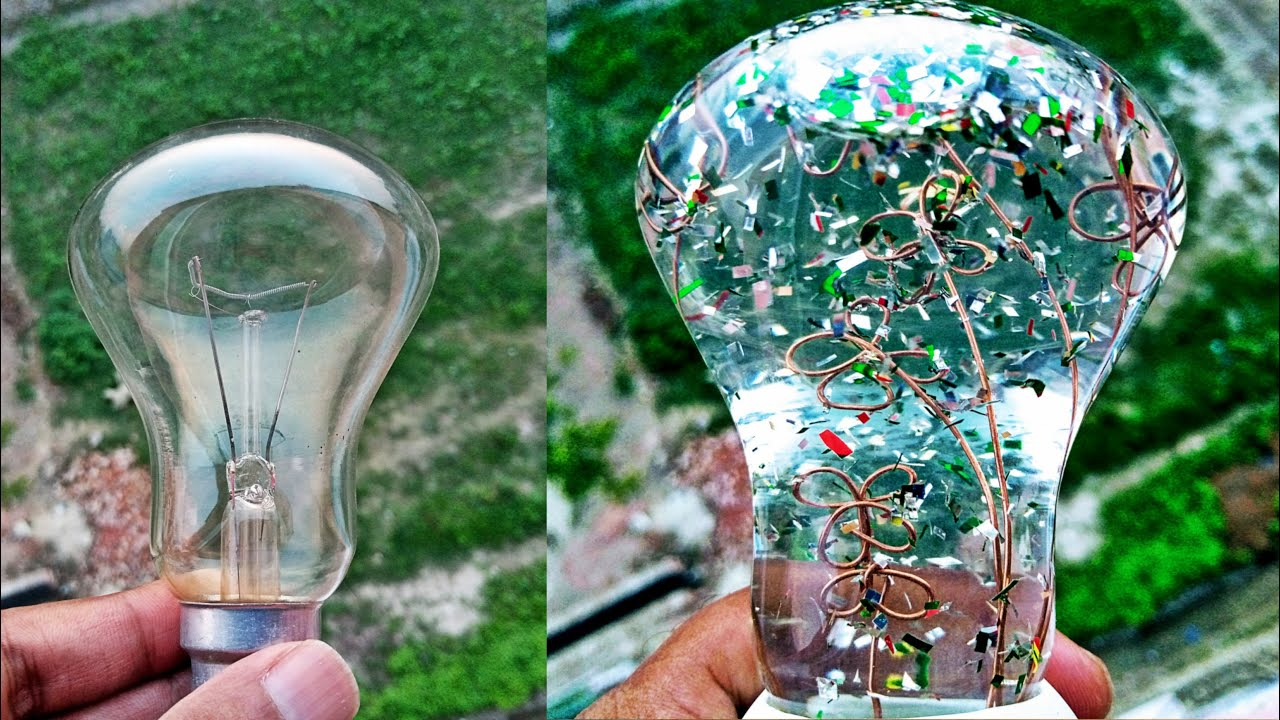 how to make a showpiece with fuse bulb II ফিউজ্ বাল্ব দিয়ে সৌপিস