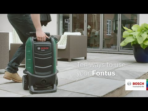 10 ways to use your Bosch Fontus Cordless Outdoor Cleaner 18 Volt
