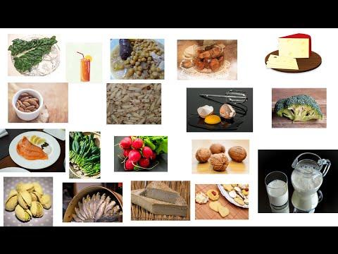 Los alimentos que mas calcio contienen
