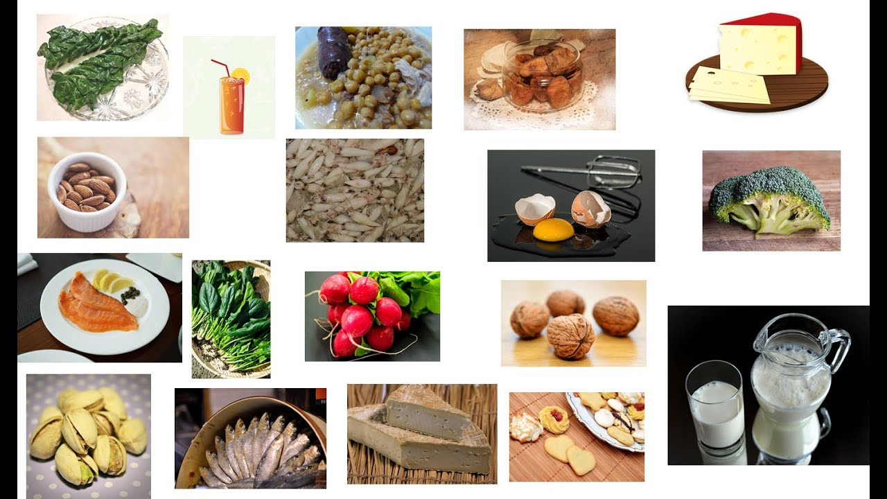 Los alimentos que mas calcio contienen - YouTube