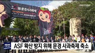 ASF 확산 방지 위해 문경 사과 축제 축소 / 안동M…