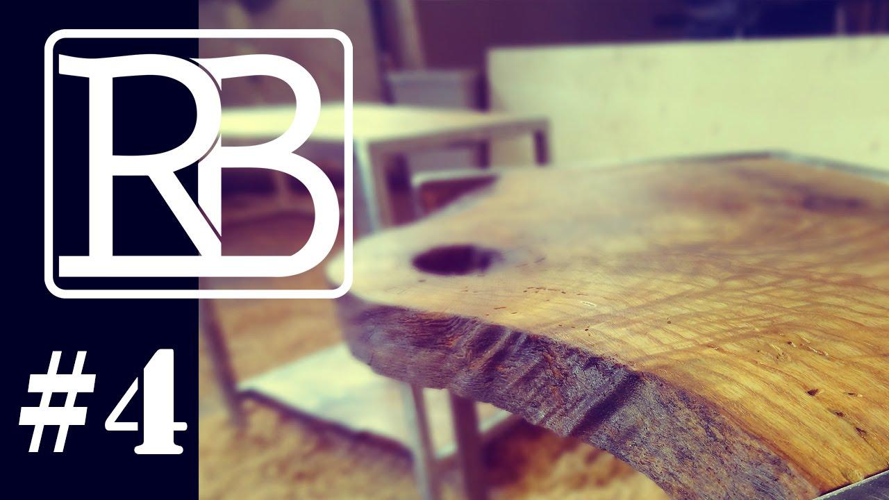 Rondin De Bois Table De Chevet table de chevet en metal et bois - mescreations #4// ⓇⒷ