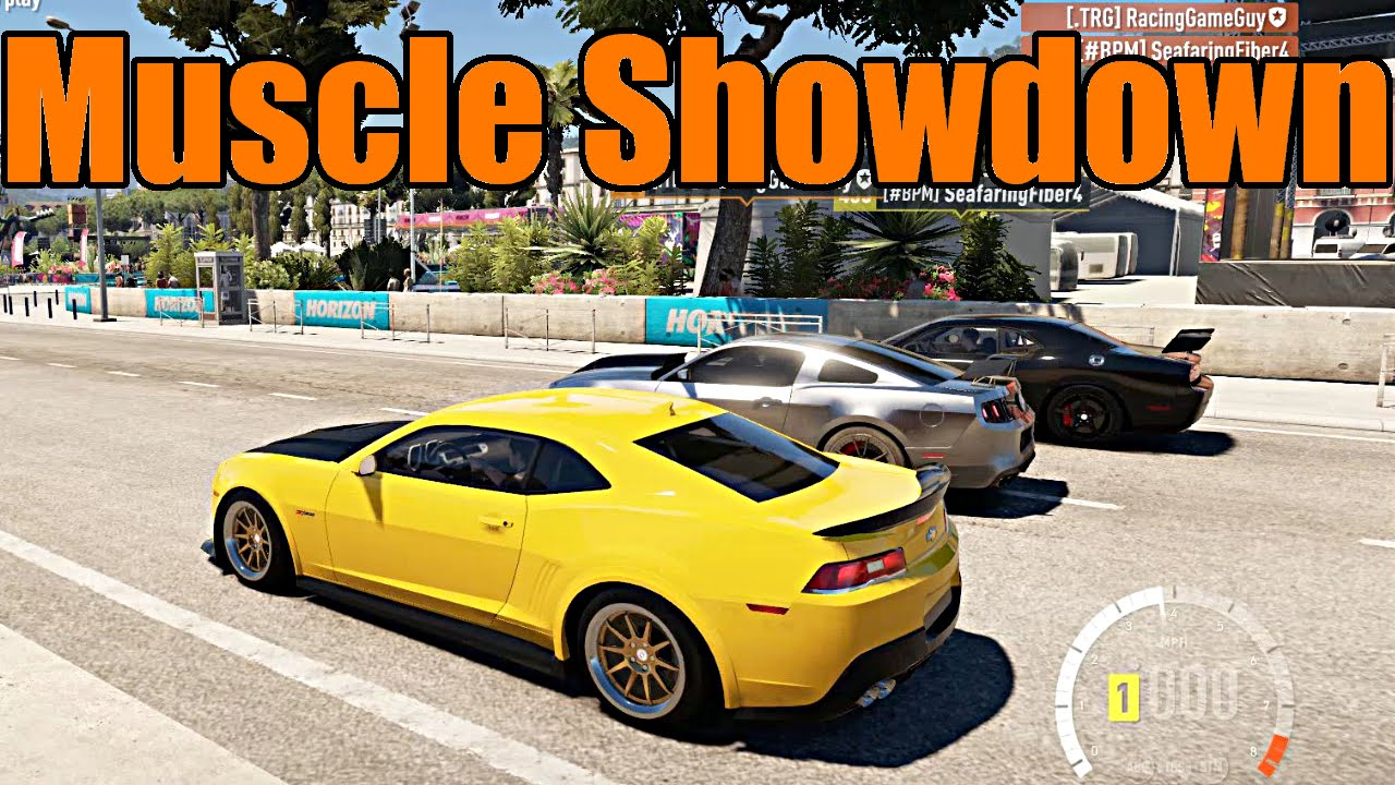 Forza Horizon Fully Built Muscle Car Showdown Youtube