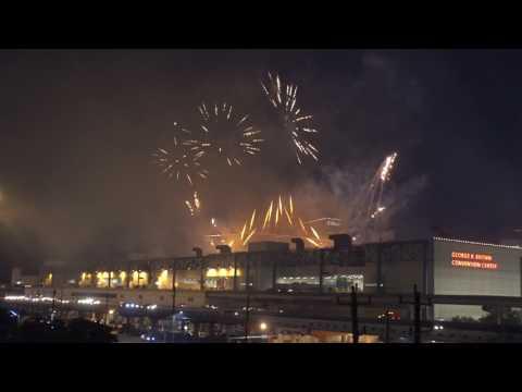 Superbowl 51 Week - NFL Live Fireworks Display in Downtown Houston, TX (1/28/2017)