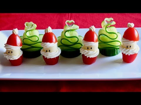 Tomato Santa And Cucumber Christmas Tree Recipe - Japanese Cooking 101