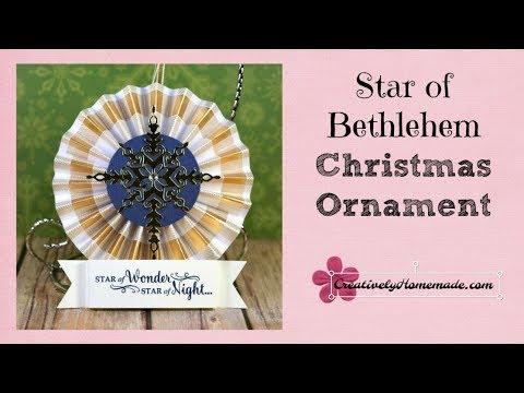 Handmade Star of Bethlehem Ornament