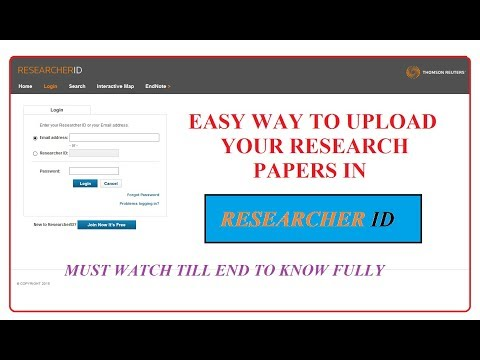 Know How to Upload Your Research Article in Researcher ID - Easy Step
