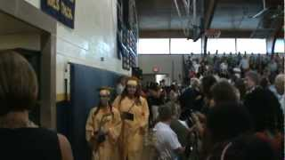 north muskegon high school band march processional graduation 2012