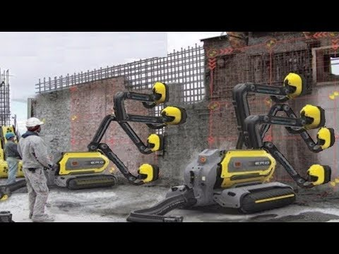 latest smart Automatic  Construction Building fastest work Modern Techniques Automatic machines