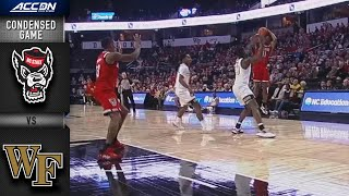 NC State vs. Wake Forest Condensed Game | 2019-20 ACC Men's Basketball