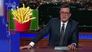The Late Show With Stephen Colbert   Dog Steals Fry S4 E58