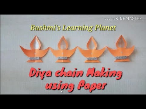 Diya Making using paper. ( Paper chain )
