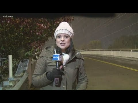 WBIR's Heather Waliga Reports On West Knoxville Snow