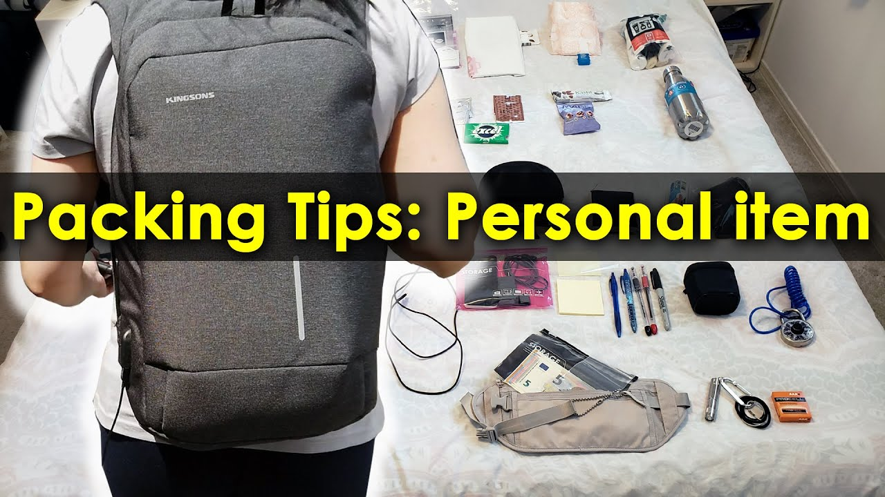 Personal item travel bag essentials & tips - Air travel and Tour friendly | 3 week Europe Trip