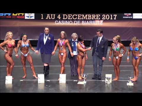 Women's Physique up to 163 at the IFBB World Fitness Championships 2017 (Biarritz), victory ceremony