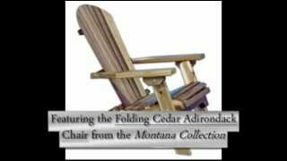 Amish Montana Folding Cedar Adirondack Chair