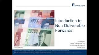 Introduction to Non-Deliverable Forwards (NDFs)