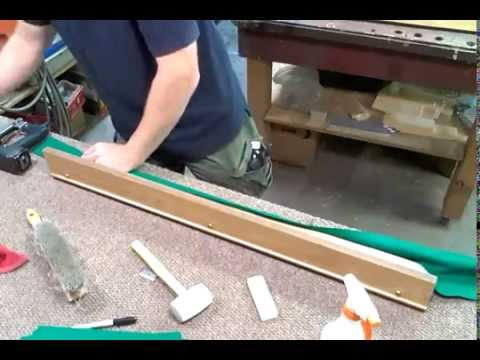 Pool table rail recovering - YouTube