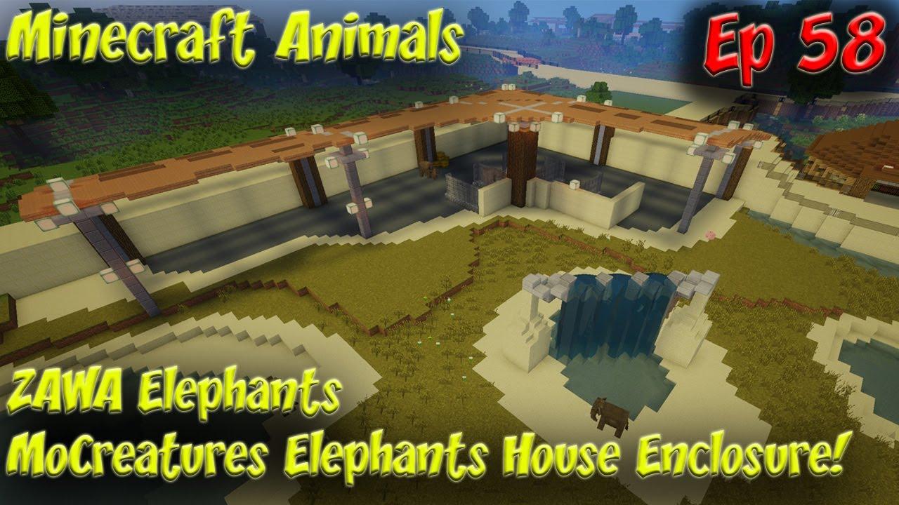 ZAWA Elephants MoCreatures Elephants Enclosure Minecraft Animals 11FPS EP11