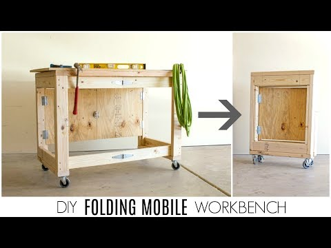 DIY Folding Mobile Workbench