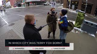 In which city was Terry Fox born? | Outburst