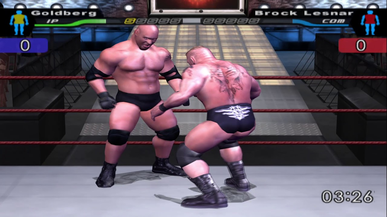 Quick Gameplay Of Smackdown Here Comes The Pain On PCSX2 Emulator