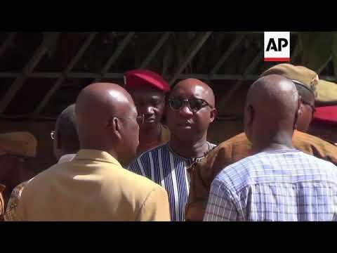 Burkina Faso - Explosions, gunfire exchanged in Burkina Faso capital / Burkina Faso PM visits scene