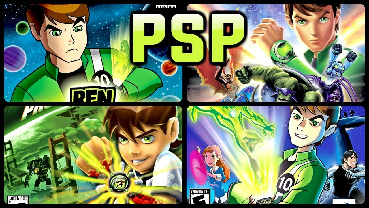 All Ben 10 Games for PSP (PPSSPP)