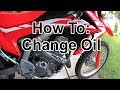 How To: Change Oil CRF250L