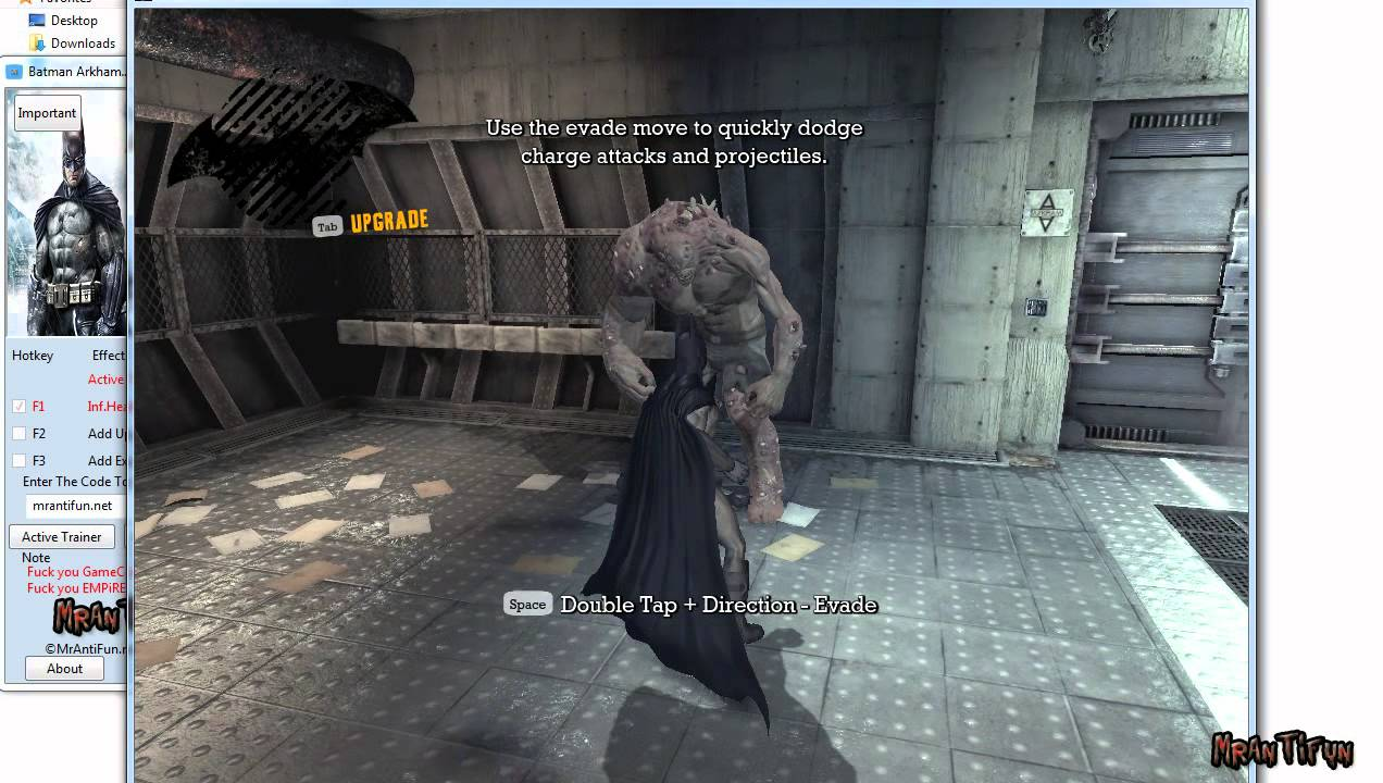 Batman: arkham city games trainer the latest game cheats codes.