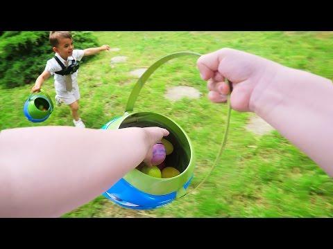 HILARIOUS EASTER EGG HUNT FROM TODDLER'S POV! | Sam & Nia