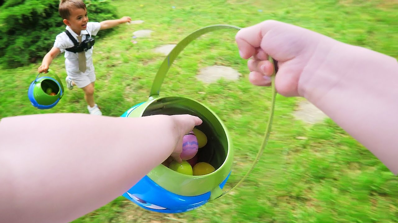 Hilarious Easter Egg Hunt From Toddlers Pov Youtube