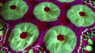 thal posh design|woolen design| home decoration| wollen thal posh design| hand craft|table cover|