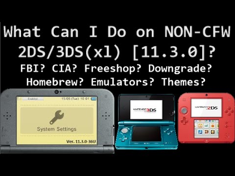 What Can I Do On [Non-CFW 11.3] 3DS & 2DS? FBI? FREESHOP?