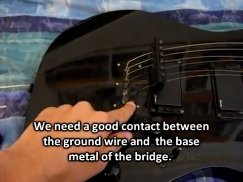 Fixing guitar ground noise problems on an Ibanez - Easy fix - YouTube