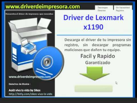 pilote lexmark x1190 windows 7