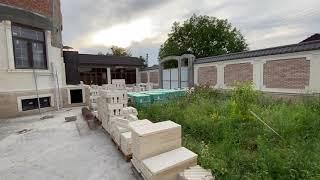 Проект двухэтажного дома. Облицовка клинкер и дагестанский камень