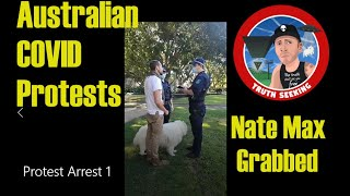 Australian COVID Protests Arrest 1