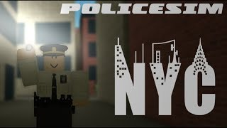 ROBLOX: Police Simulator: New York #1 Responding to a bank robbery!
