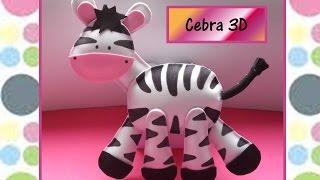 MANUALIDADES EN FOAMY!!!!♥♥  Cebra en  3D♥♥- CREACIONES mágicas♥♥