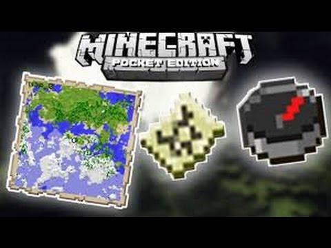 ✔ Minecraft PE -PUSULALI HARİTA NASIL YAPILIR ?