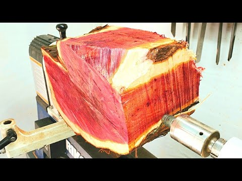 Woodturning - Red