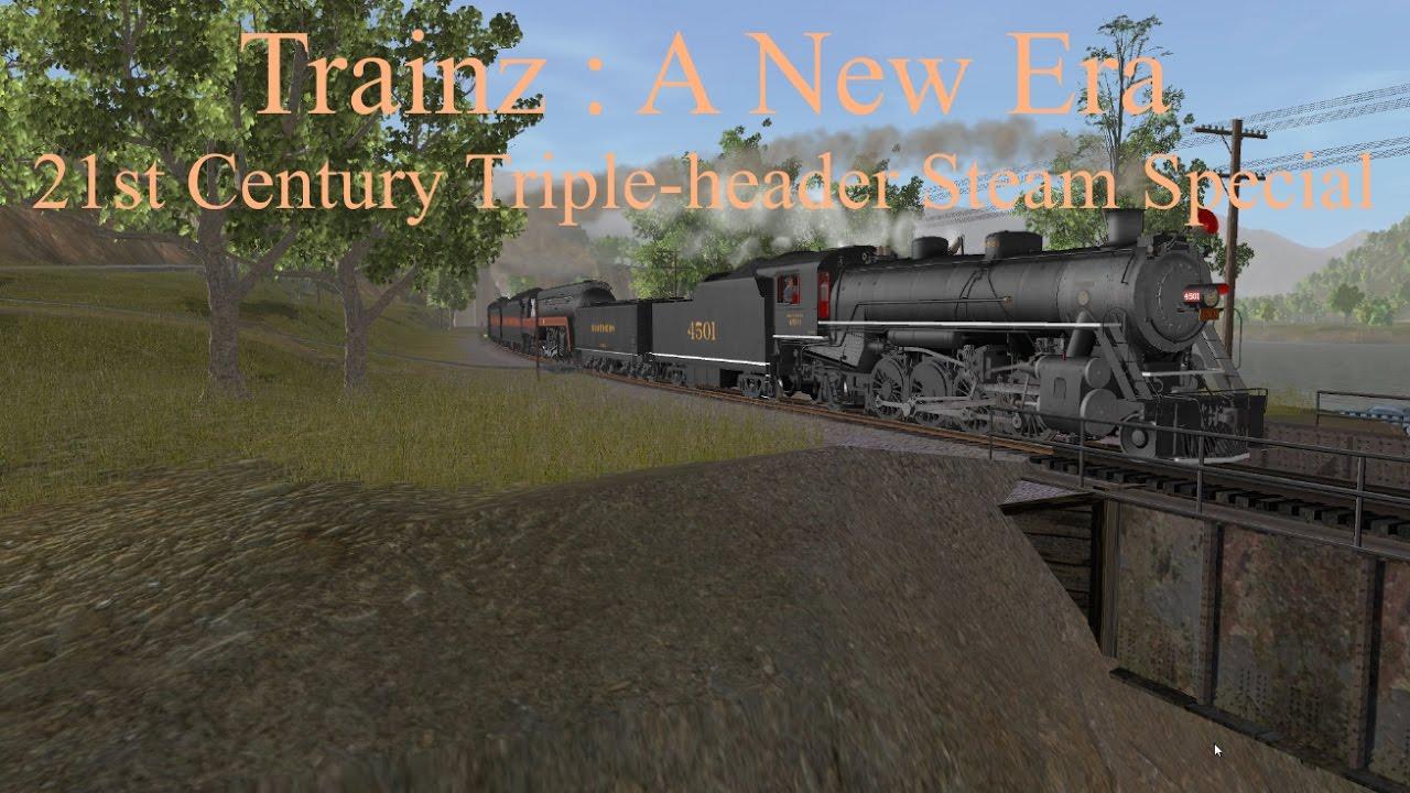 Trainz : A New Era 21st Century Triple-header Steam Special feat  K&L  Trainz 4501, 611, & 1218